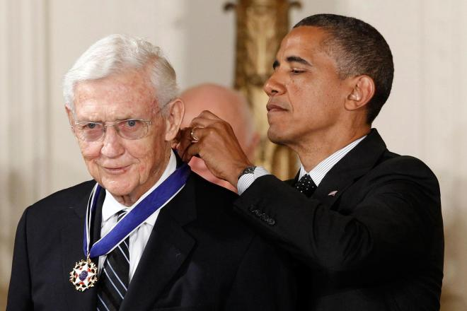 President Obama awarded Mr. Doar the Presidential Medal of Freedom in 2012. (photo credit: NBC News)